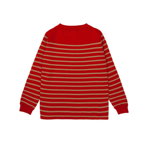 ANDERSEN-ANDERSEN Marine Stripe - Red ground Camel stripe