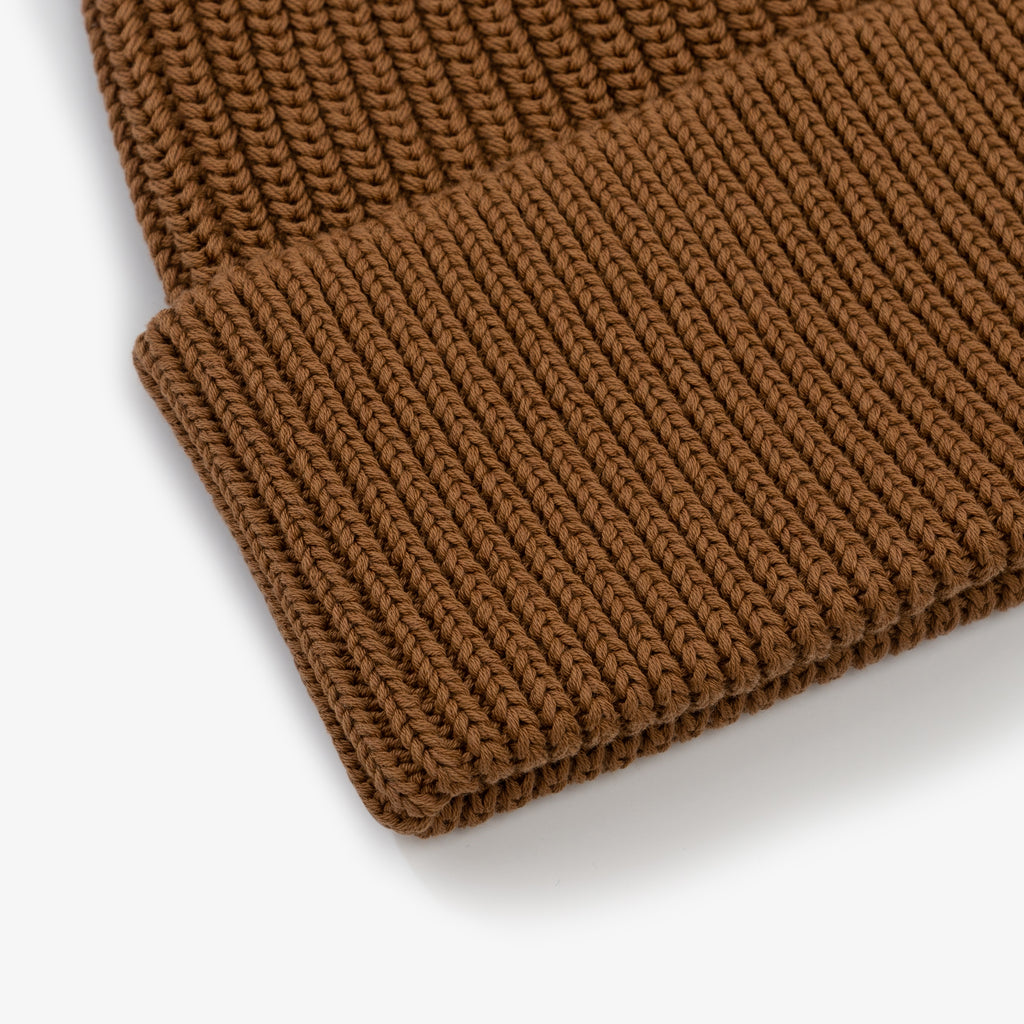 Cotton Beanie - Dark Camel