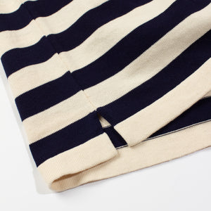 ANDERSEN-ANDERSEN Rigger - Raw cotton ground Royal Blue stripe