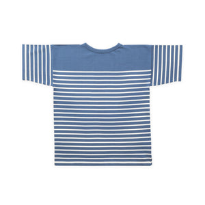 ANDERSEN-ANDERSEN T Shirt - Petroleum ground Raw Cotton stripe