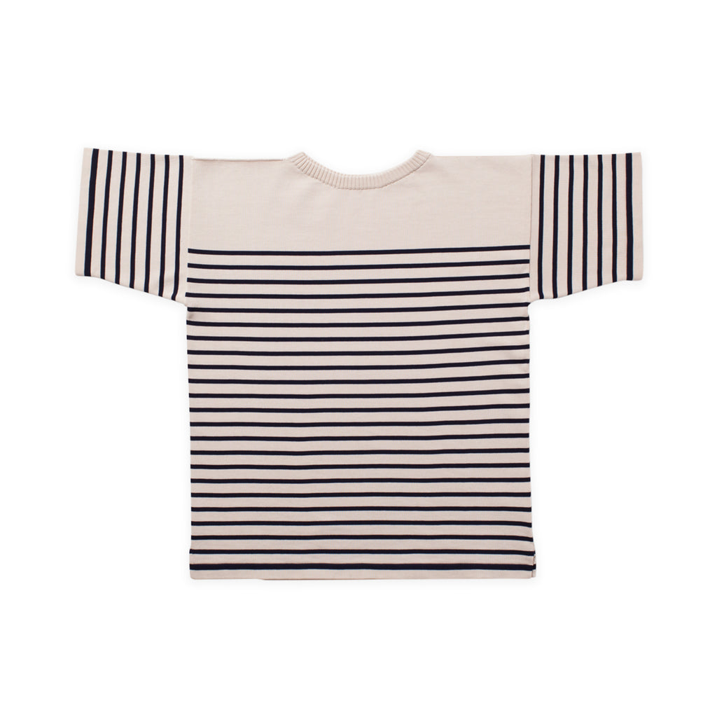 ANDERSEN-ANDERSEN T Shirt - Raw Cotton ground Navy Blue stripe