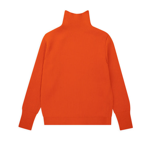 ANDERSEN-ANDERSEN Navy Turtleneck - Orange