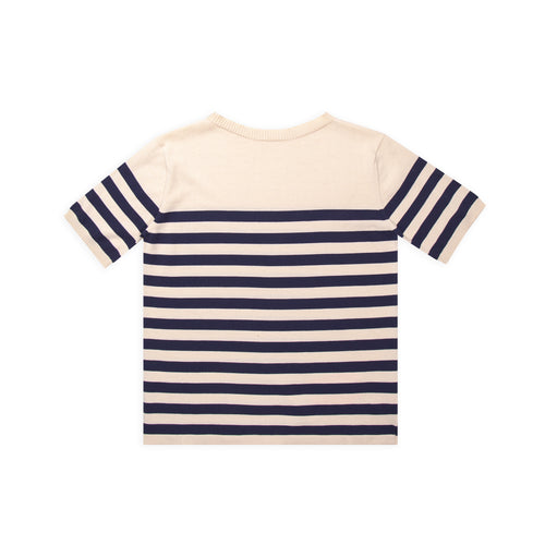 Rigger - Raw Cotton W/Royal Blue Stripe