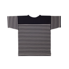 ANDERSEN-ANDERSEN T Shirt - Navy Blue ground Off white stripe