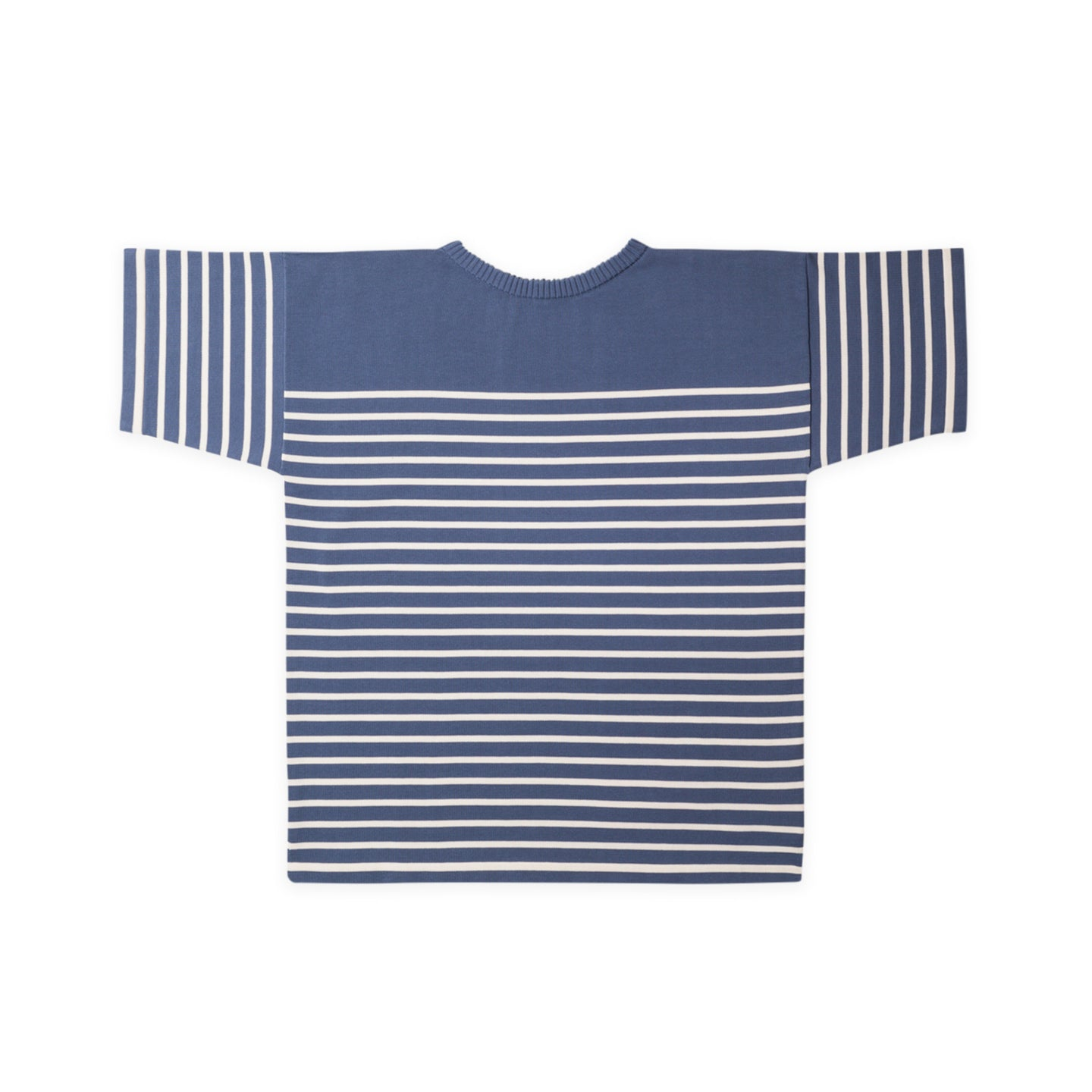 ANDERSEN-ANDERSEN T Shirt - Petroleum ground Off White stripe