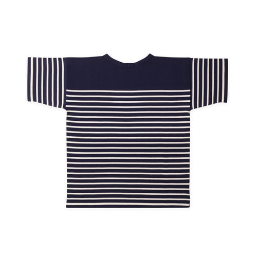 T-Shirt - Royal Blue Gr./Off-White Str.