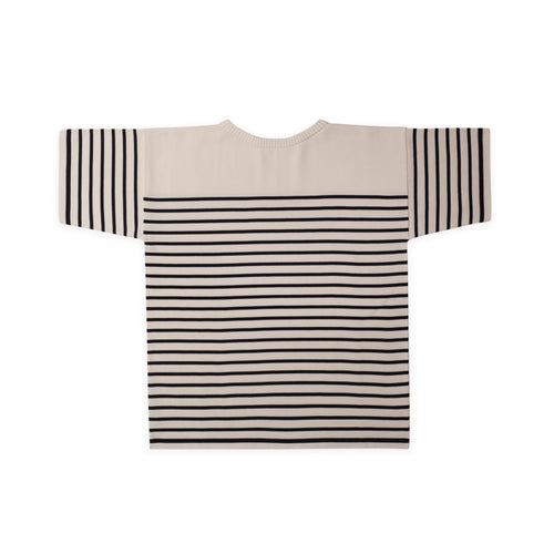 ANDERSEN-ANDERSEN T Shirt - Off White ground Navy Blue stripe
