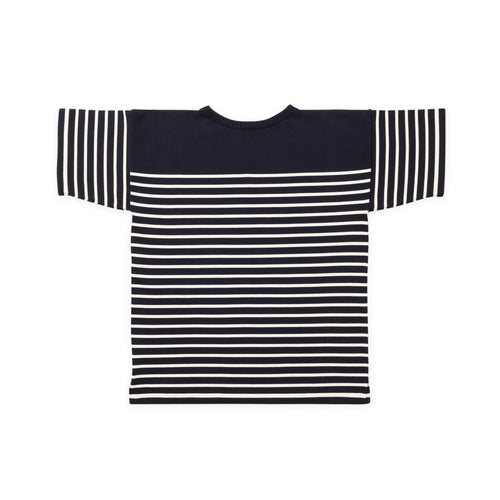T-Shirt - Navy Blue Gr./Raw Cotton Str.