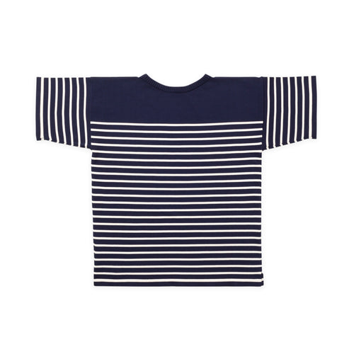 ANDERSEN-ANDERSEN T Shirt - Royal Blue ground Raw Cotton stripe