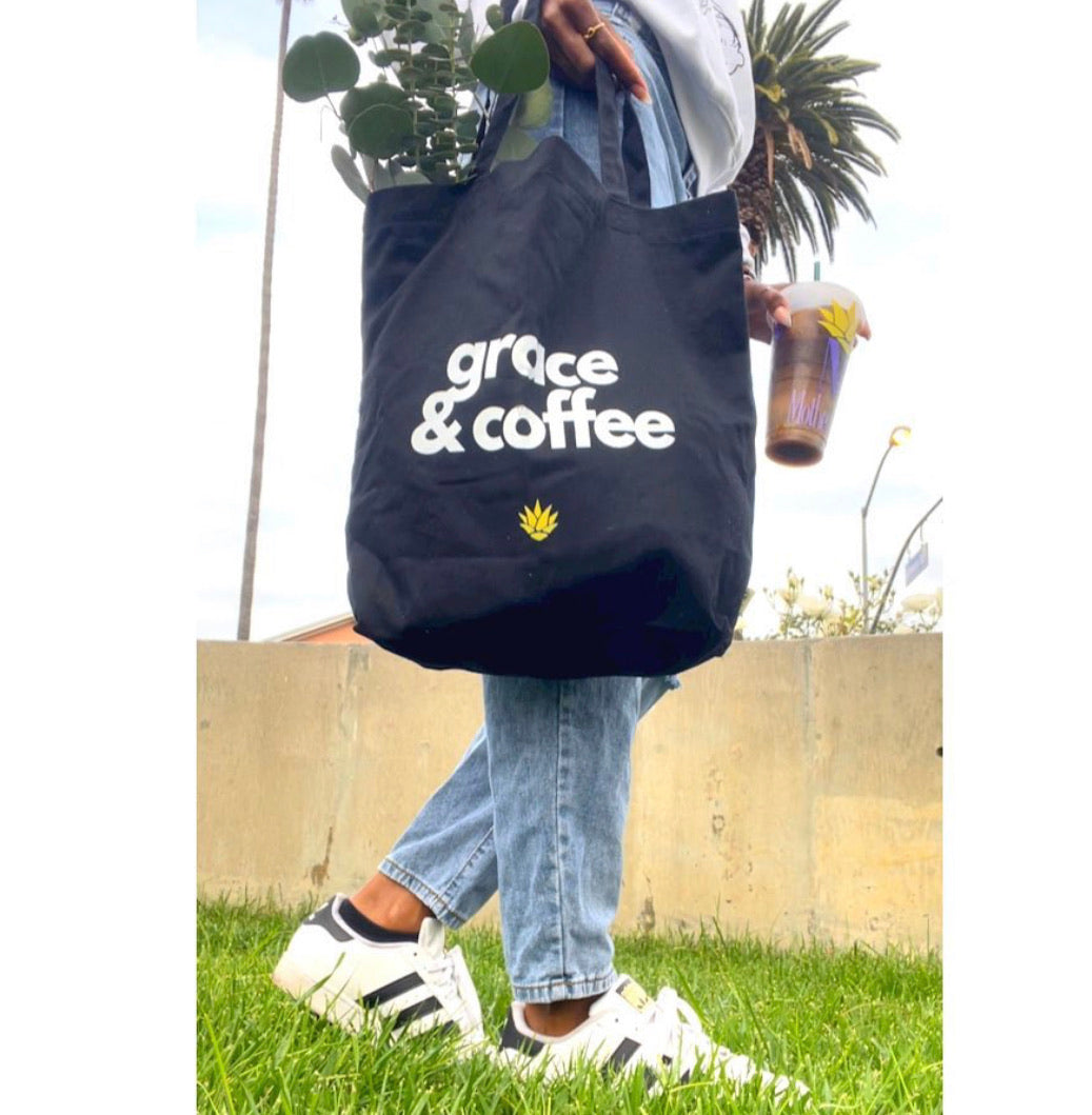 grace & coffee :: tote bag
