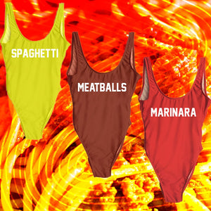 """MEATBALLS"" One Piece Swimsuit"