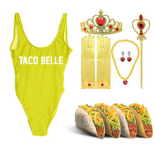 "Load image into Gallery viewer, ""TACO BELLE"" One Piece Swimsuit"