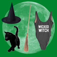 "Load image into Gallery viewer, ""WICKED WITCH"" One Piece Swimsuit"