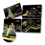 Set of 4 Landmark Postcards Scratch Painting Kit