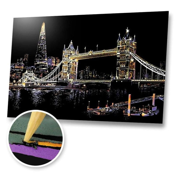 London Bridge, UK Scratch Painting Kit