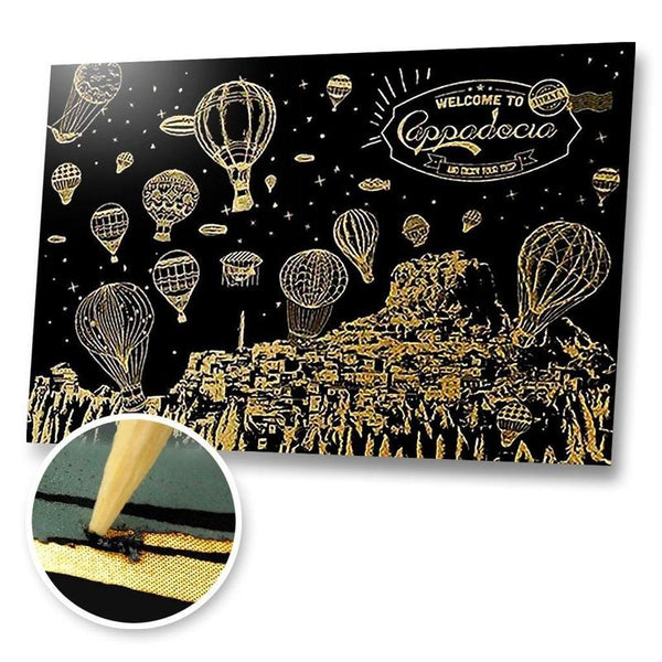 Welcome to Cappadocia Scratch Painting Kit