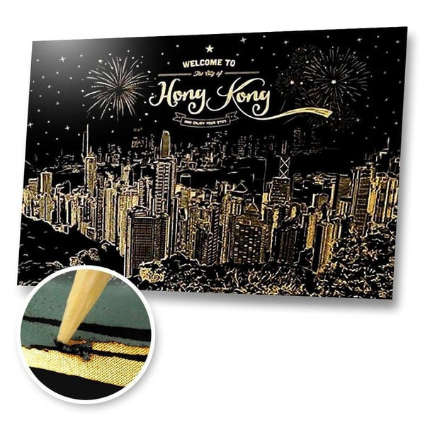 Welcome to Hong Kong Scratch Painting Kit