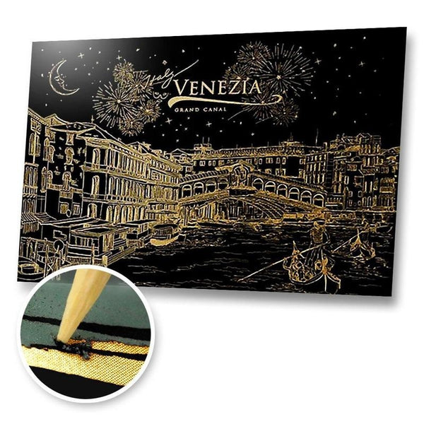 Grand Canal, Venezia Scratch Painting Kit