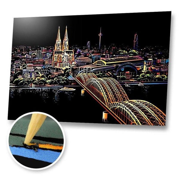 Cologne, Germany Scratch Painting Kit