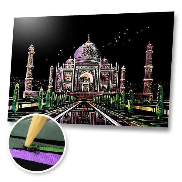 Taj Mahal, India Scratch Painting Kit