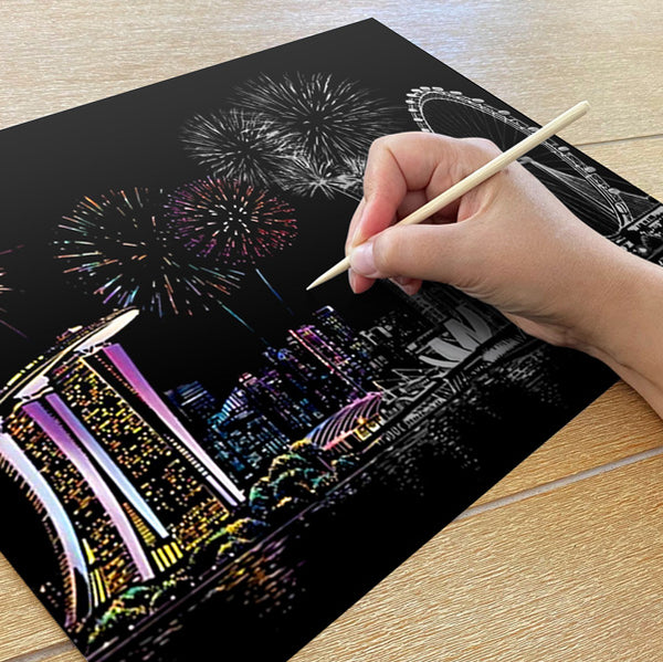 Singapore Scratch Painting Kit