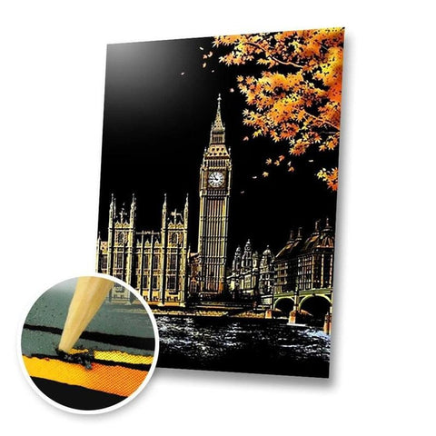 Big Ben, UK Scratch Painting Kit