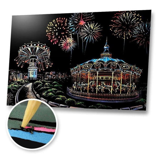 Theme Park Scratch Painting Kit