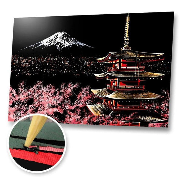 Mt. Fuji, Japan Scratch Painting Kit