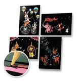 Set of 4 Circus Postcards Scratch Painting Kit