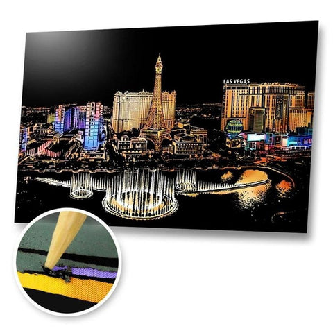 Las Vegas, USA Scratch Painting Kit