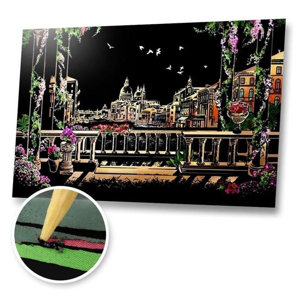 Venice, Italy Scratch Painting Kit