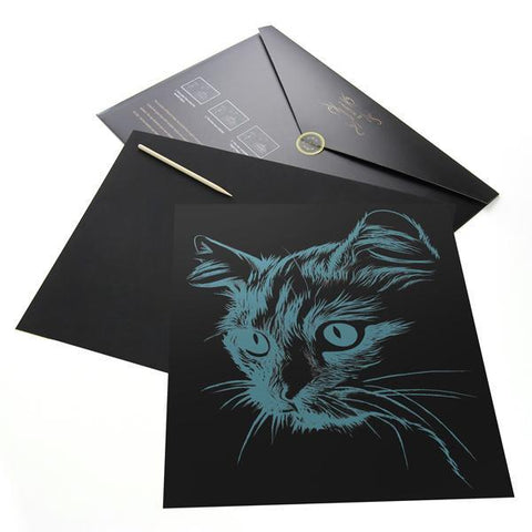 Blue Eyed Cat Scratch Painting Kit