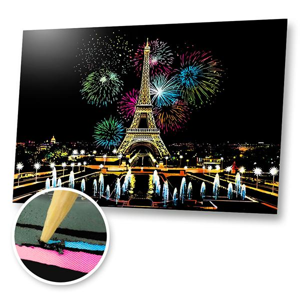 Eiffel Tower Fireworks Scratch Painting Kit