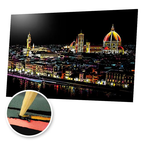 Florence River View, Italy Scratch Painting Kit