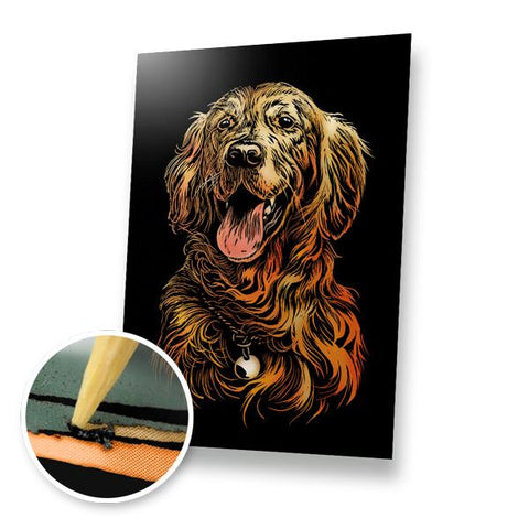 Golden Retriever Scratch Painting Kit