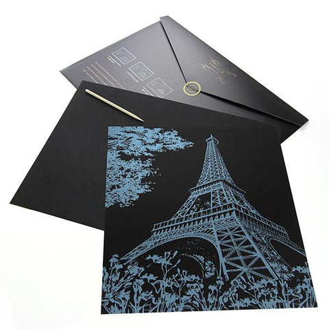 Eiffel Tower, France Scratch Painting Kit