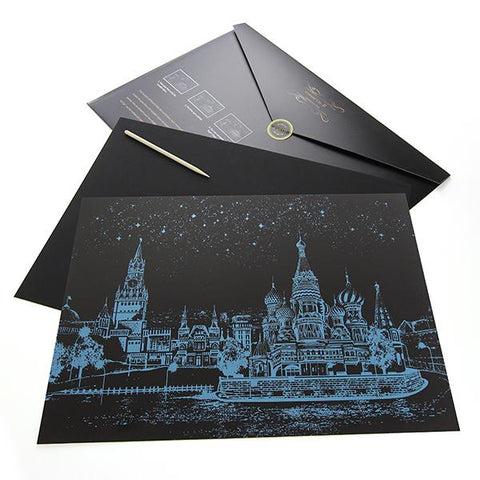 Moscow, Russia Scratch Painting Kit
