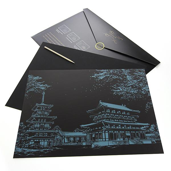 Temple, Japan Scratch Painting Kit
