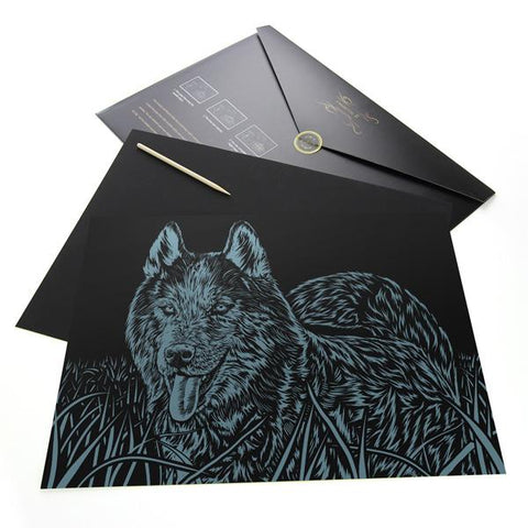 Siberian Husky Scratch Painting Kit