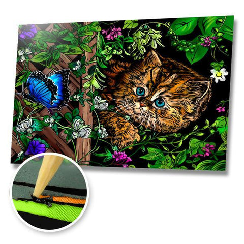 Curious Kitten Scratch Painting Kit