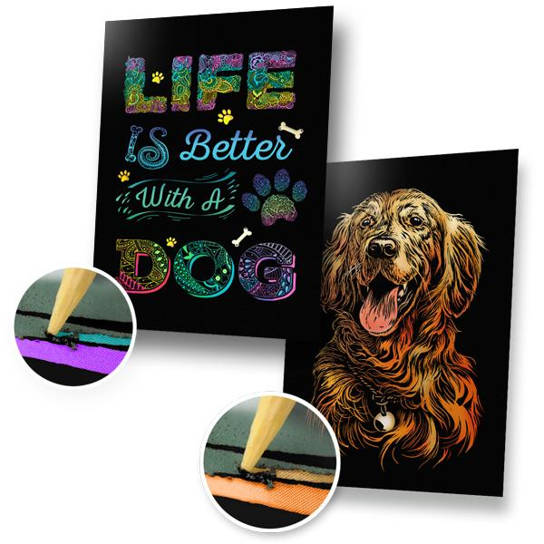 Life Is Better With A Dog Scratch Painting Bundle