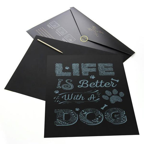 Life Is Better With A Dog Scratch Painting Kit