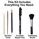 Scratch Painting 4-Piece Tool Kit and Invisible Repair Pen