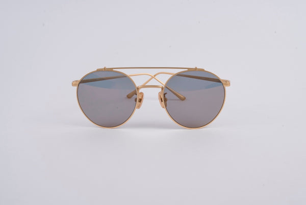 OWL Sun Glass Circle Golden Frame