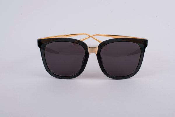 OWL Sun Glass Black and Golden Frame