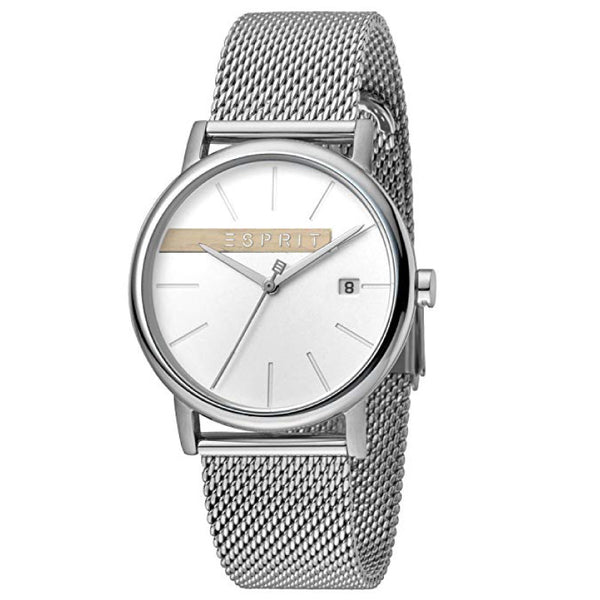 Esprit Stainless Steel Mesh & Chronograph (White)