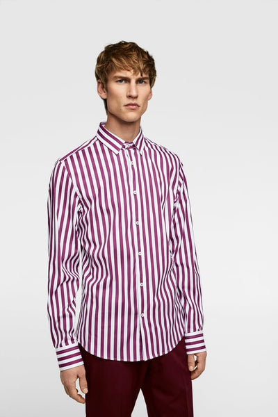 ZARA LONG SLEEVE STRIPED SHIRT