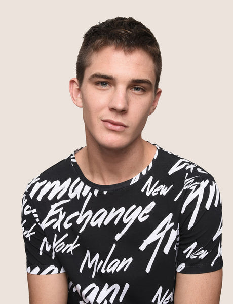 Armani Exchange Black Logo Tee