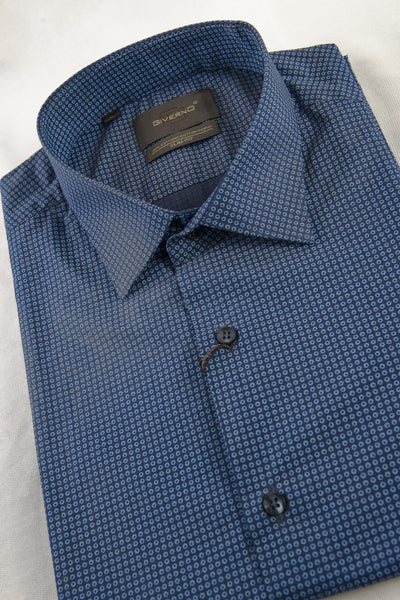 Giverno Checked Blue Shirt