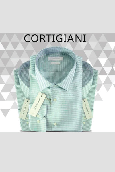 Cortigiani Checked Slim fit Shirt